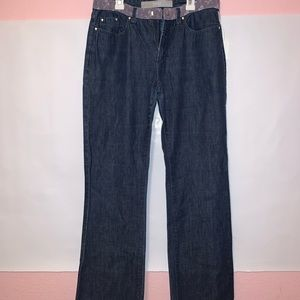 🤩Versace Couture Jeans w/ purple Lace waistband